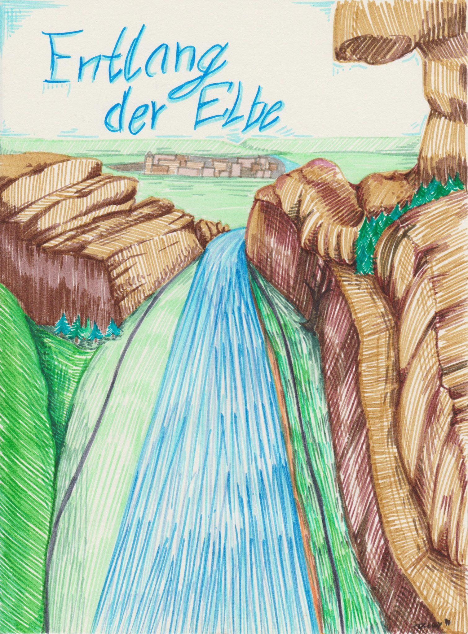 Entlang der Elbe
