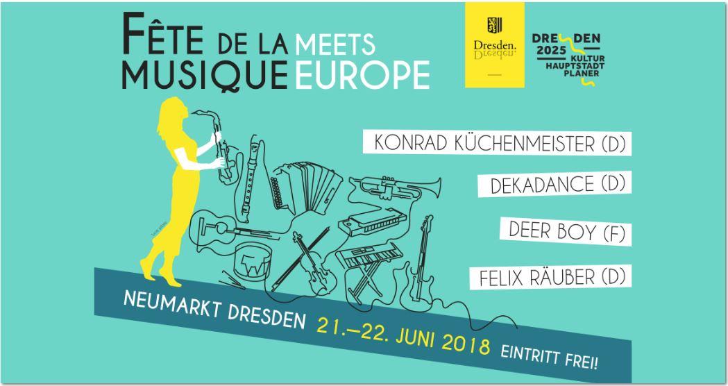 Fête de la musique meets Europe - Open Air 2018
