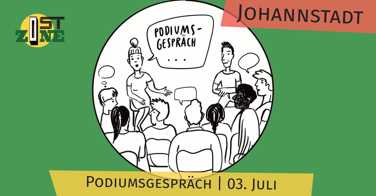 Podiumsgespräch in der Johannstadt